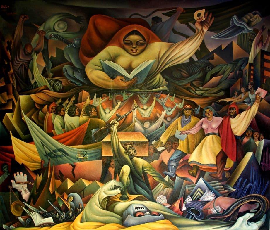 Miguel Alandia Pantoja, La educación, 1960, el Monumento a la Revolución Nacional, La Paz, Bolivia.