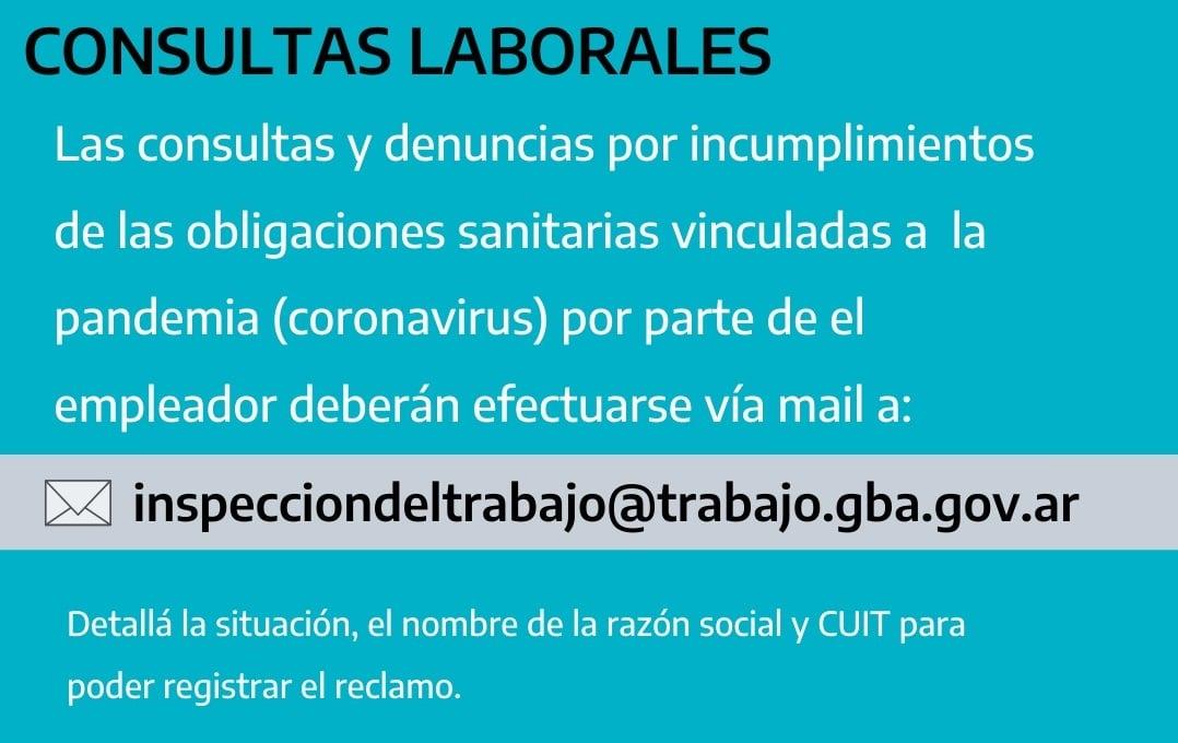 Kicillof habilitó un mail para denunciar a empleadores que no cumplen sus obligaciones en cuarentena