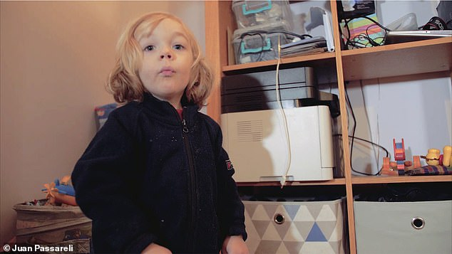 The revelation about his secret family emerged last week in court papers, seen by The Mail on Sunday. Pictured: Miss Morris and Assange's first son Gabriel, now aged two