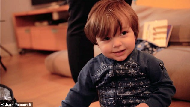 The news will come as a bombshell to Assange's friends and enemies since he was widely understood to have led a near-monastic life since entering the embassy in 2012. Pictured: The couple's second son Max, aged one