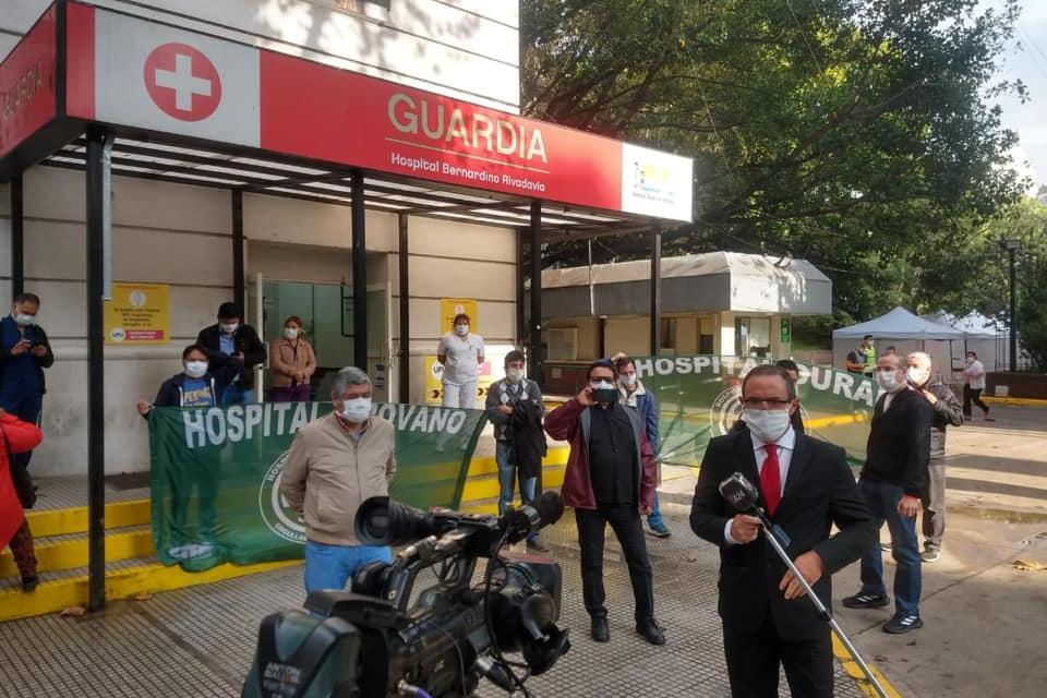 El personal de la salud reclama al gobierno de Rodríguez Larreta ante la falta de elementos para protegerse del coronavirus.