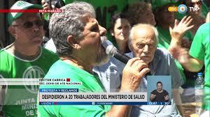 Visión 7 - Protesta por despidos en el ministerio de Salud - YouTube