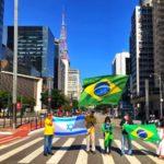 Brasil. Con banderas del país y de Israel partidarios de Bolsonaro rompen cuarentena en Sao Paulo