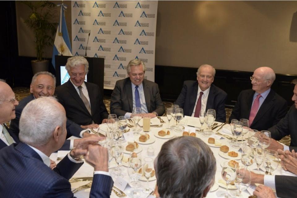 Antes de la pandemia, la cúpula de AEA con el presidente Fernández.