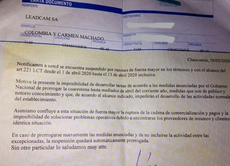 """Las autopartistas Fadecya y Lead Cam pretenden suspender sin goce de sueldo: """"Tienen cero interés por sus trabajadores."""""""