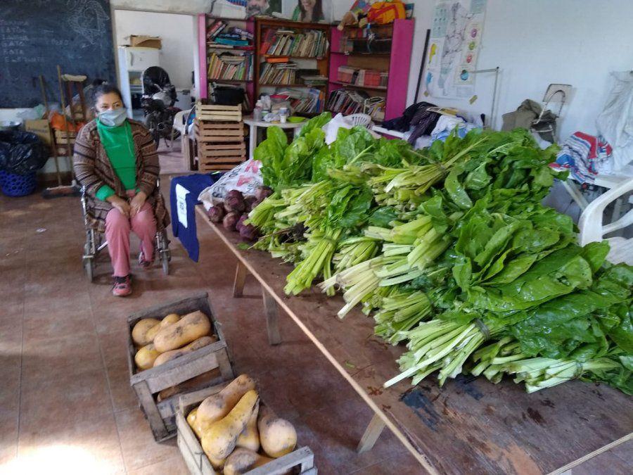 Comedores platenses: presos donaron 140 kilos de verduras