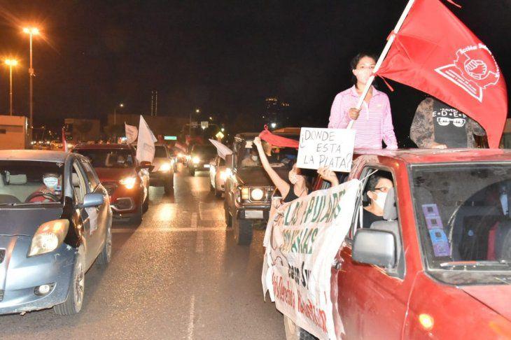 La caravana contra la corrupción y el desempleo