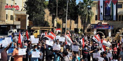 Siria.  En Hasaka piden expulsión de las fuerzas ocupantes de EEUU
