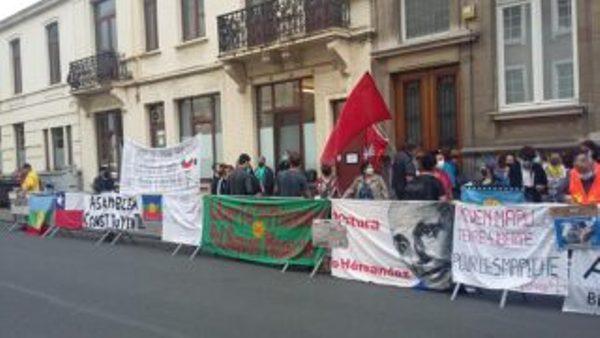 Nación Mapuche. Organizaciones chilenas en Europa se movilizan por la libertad de todos los presos políticos.