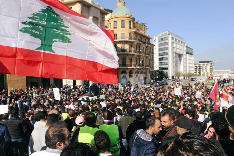 Investigación explosión Líbano protesta
