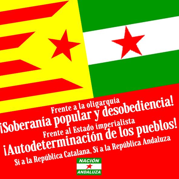 Nación Andaluza manifiesta su solidaridad ante la nueva ofensiva judicial contra la CUP ¡Andalucía con Catalunya!