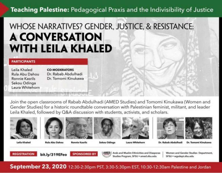 Bajo presión del lobby israelí: Zoom y YouTube censuran conferencia de Leila Khaled