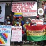 El Salvador. El colectivo que defiende la embajada de Venezuela saluda victoria del  pueblo boliviano