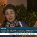 Chile. Carabineros detuvieron con violencia a la corresponsal extranjera Claudia Aranda, del medio Pressenza