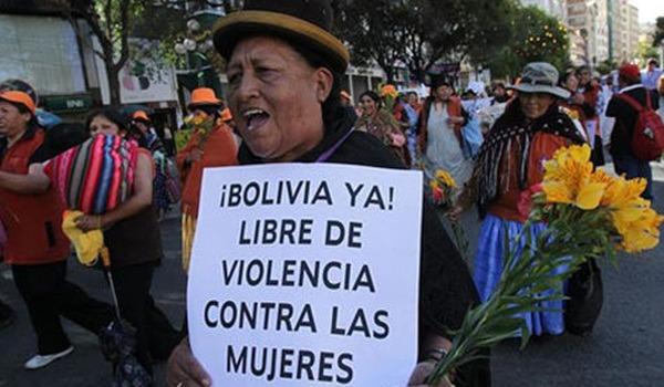 Bolivia. Hasta ahora fueron reportadas 100 mujeres asesinadas en el país