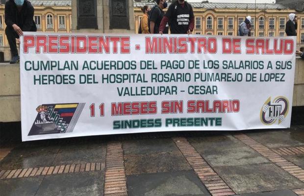 Colombia. Plantón por la sanidad pública y en rechazo proyecto de Ley 010