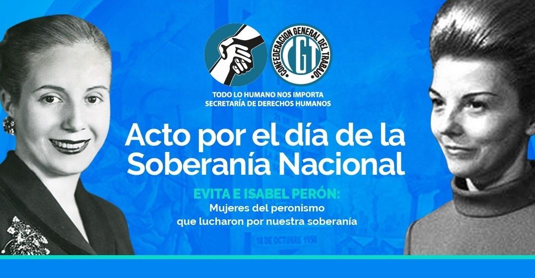 """Polémica porque el revisionismo de la CGT """"puso en pie de igualdad"""" a Evita con Estela Martínez"""