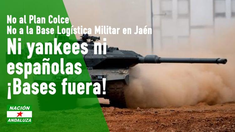 Nación Andaluza rechaza la instalación de la Base Logística Militar española en Jaén y señala que Andalucía está experimentando una creciente militarización de su territorio y de las vidas como andaluzas.
