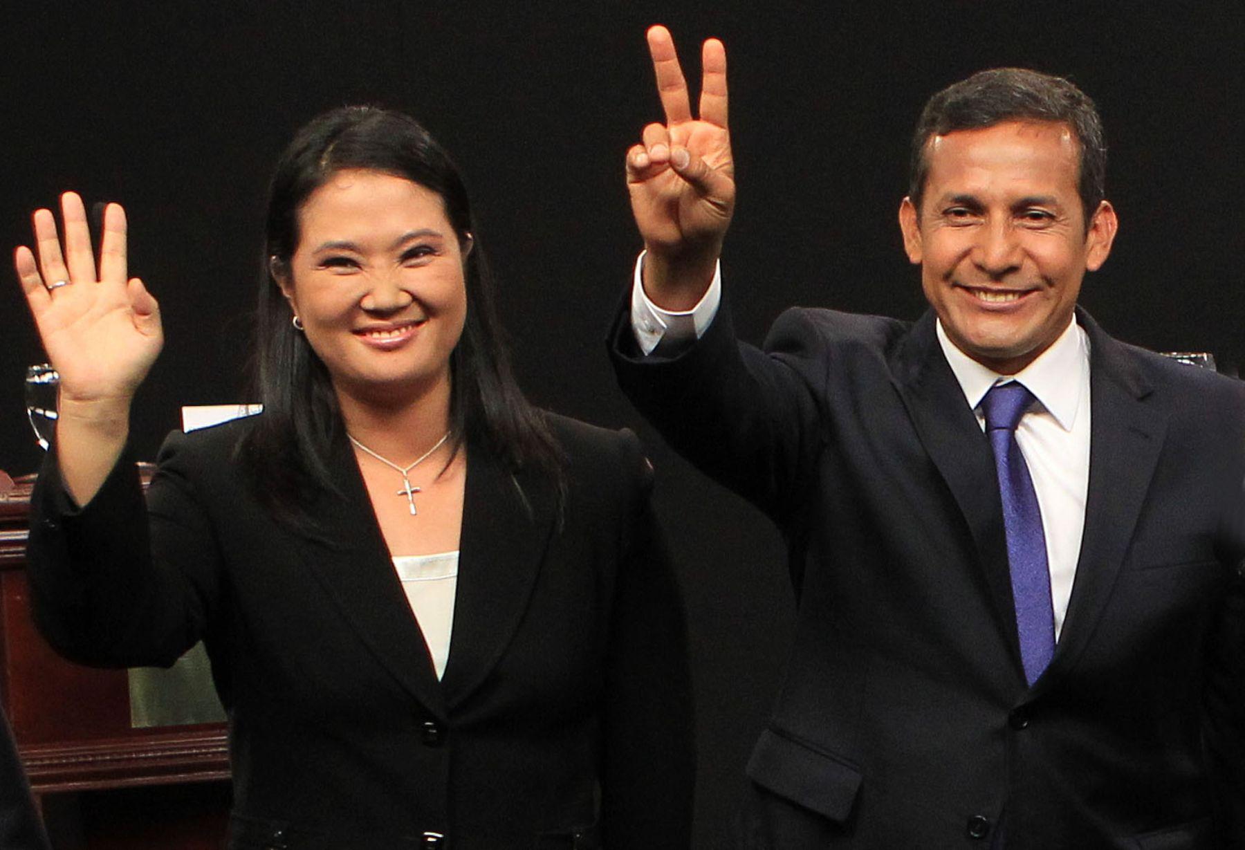 Fotografía de Ollanta Humala y Keiko Fujimori