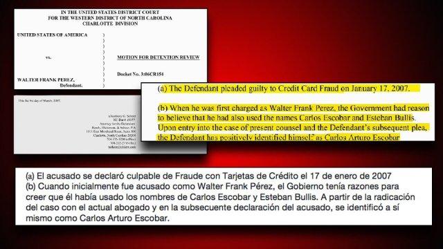 """Daniel Coronell en Twitter: """"El abogado del convicto Carlos Escobar afirma  en comunicación con Corte que su cliente confesó fraude con tarjetas de  crédito y que usó las identidades falsas de Walter"""