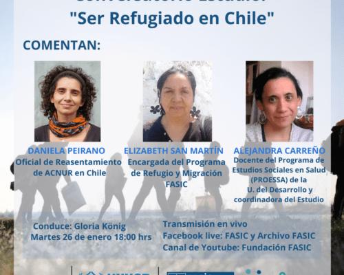 """Chile. Conversatorio Estudio: """"Ser Refugiado en Chile"""" / 26 enero"""