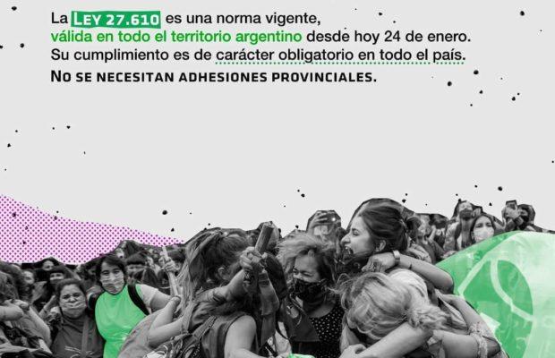 Argentina. Repudio al intento de suspender la aplicación de la Ley N° 27.610 en el Chaco