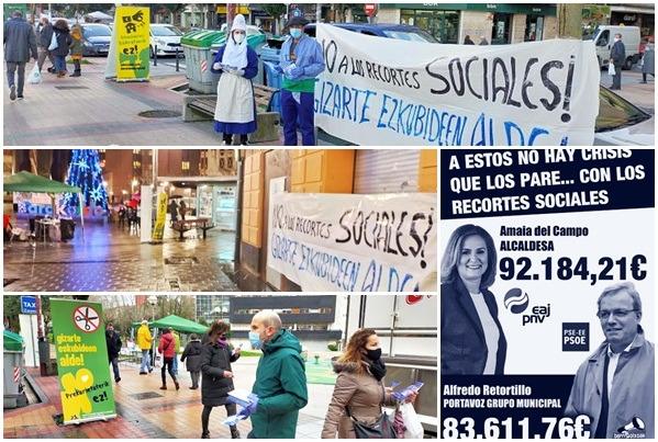 Finaliza la campaña de denuncia de los abusivos sueldos y la política del ayuntamiento