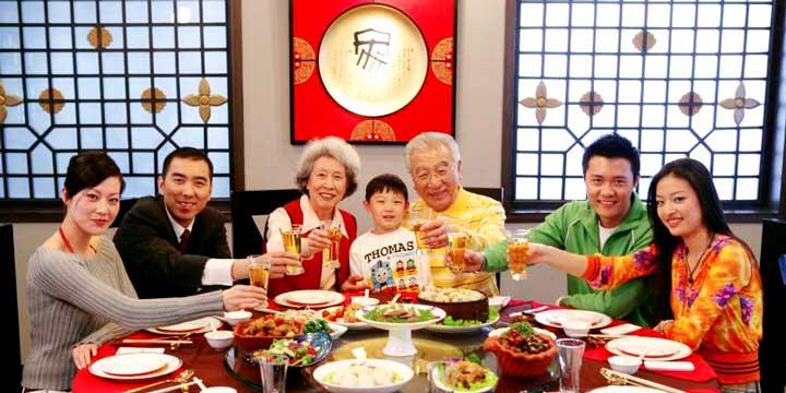 Cena de reunión familiar