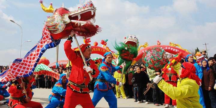 Espectáculo de danza del dragón