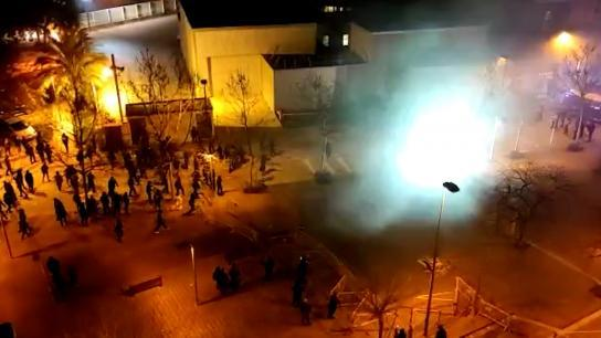Cuarta noche consecutiva de disturbios en las protestas tras el encarcelamiento de Pablo Hasél