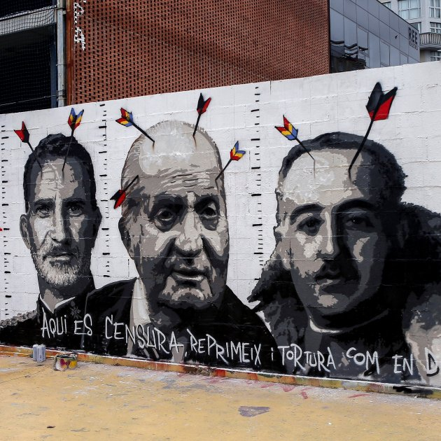 mural nuevo blackblock - efe