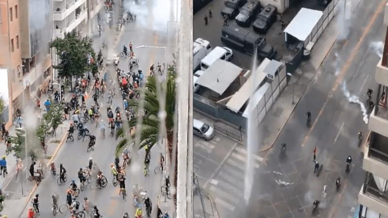 [VIDEO] Manifestación de ciclistas en el centro de Santiago fue duramente reprimida por Carabineros