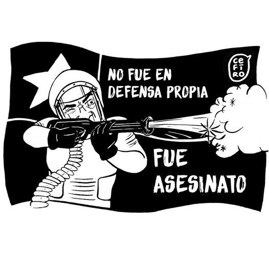 """Puede ser una ilustración de texto que dice """"NO FUE EN DEFENSA PROPIA FUE ASESINATO"""""""
