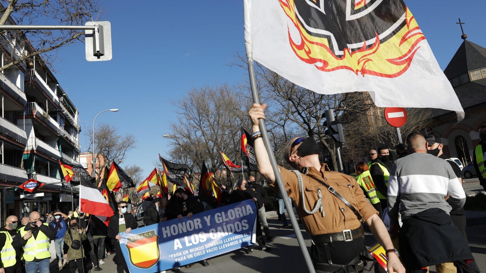 Resultado de imagen de manifestacion division azul