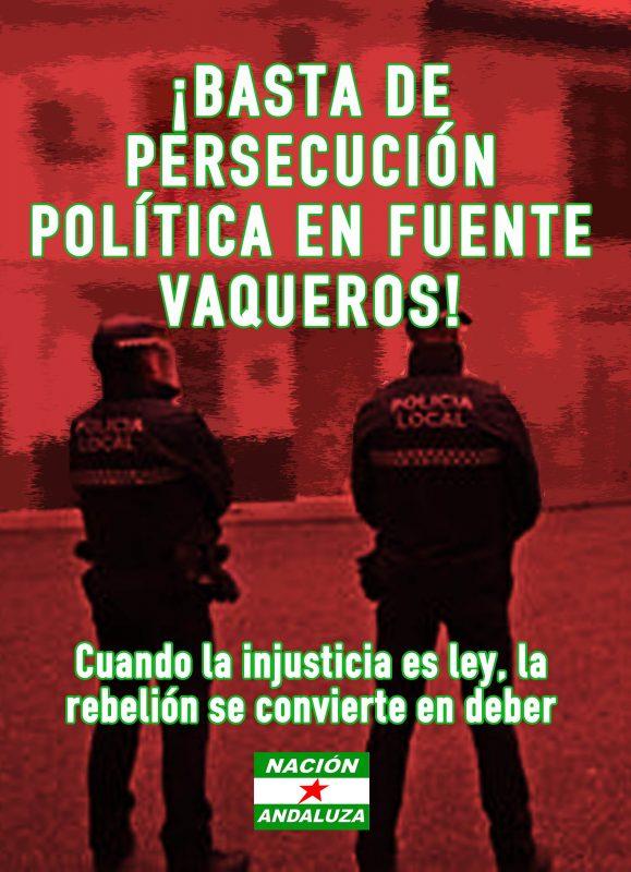 Vega de Granada: Denuncian persecución política de Nación Andaluza por el Ayuntamiento de Fuente Vaqueros (PSOE)