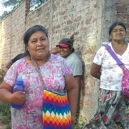 """La lideresa wichí Ercilia Aguero fue sindicada como """"presunta puntera"""" por algunos medios y ella denuncia que fue perseguida por denunciar la situación de las mujeres."""