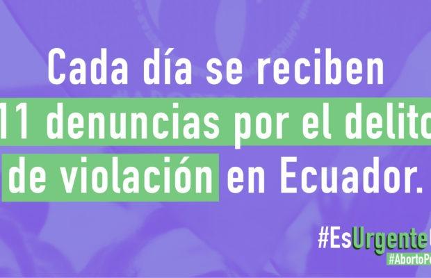 Ecuador. Colectivos de mujeres demandan despenalización del aborto
