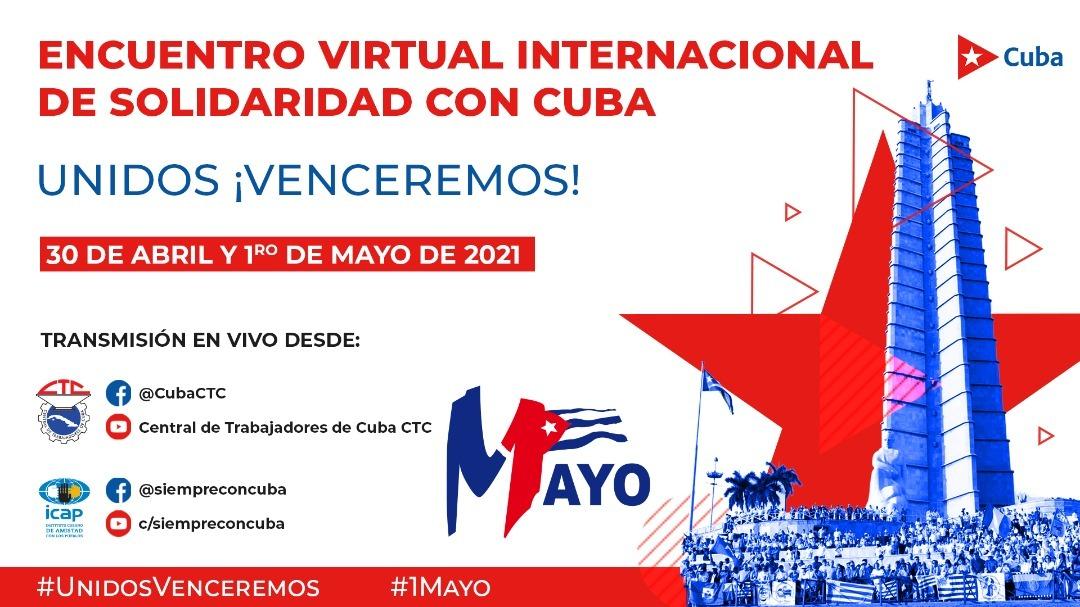 CLATE presente en la celebración del 1 de mayo en Cuba