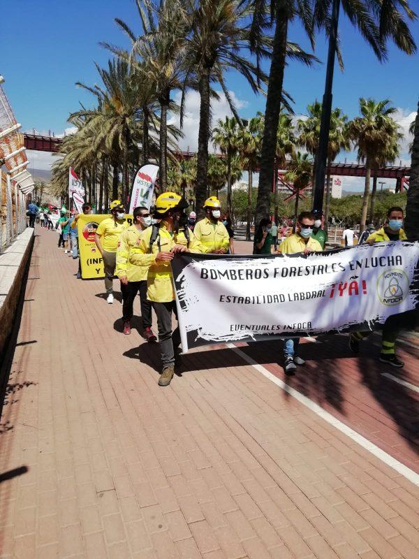 Almería: Crónica de la movilización por el 1º de Mayo