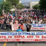 Grecia. Multitudinaria movilización en rechazo a la reforma laboral