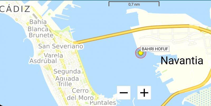 Cádiz: Barco saudí llega al puerto para cargar armamento