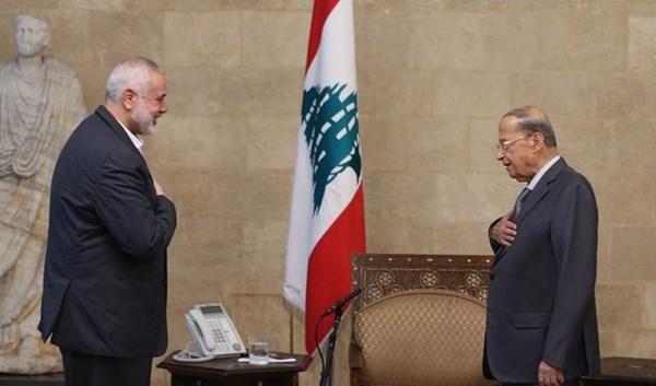 Líbano. Aoun elogia la resistencia de los palestinos en un encuentro con Haniyeh