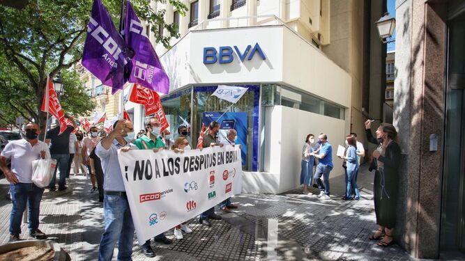 90% de seguimiento en la huelga de BBVA en Andalucía