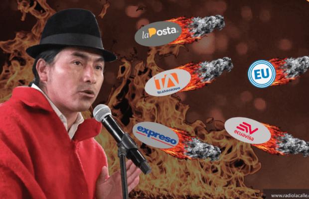 Ecuador. Leonidas Iza reacciona: ¡Juicio a La Posta por delito de odio!