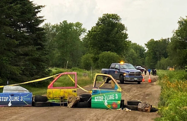 Estados Unidos. Activistas contra la construcción del oleoducto Línea 3 de Enbridge afirman que la empresa derramó productos químicos en el río Minesota