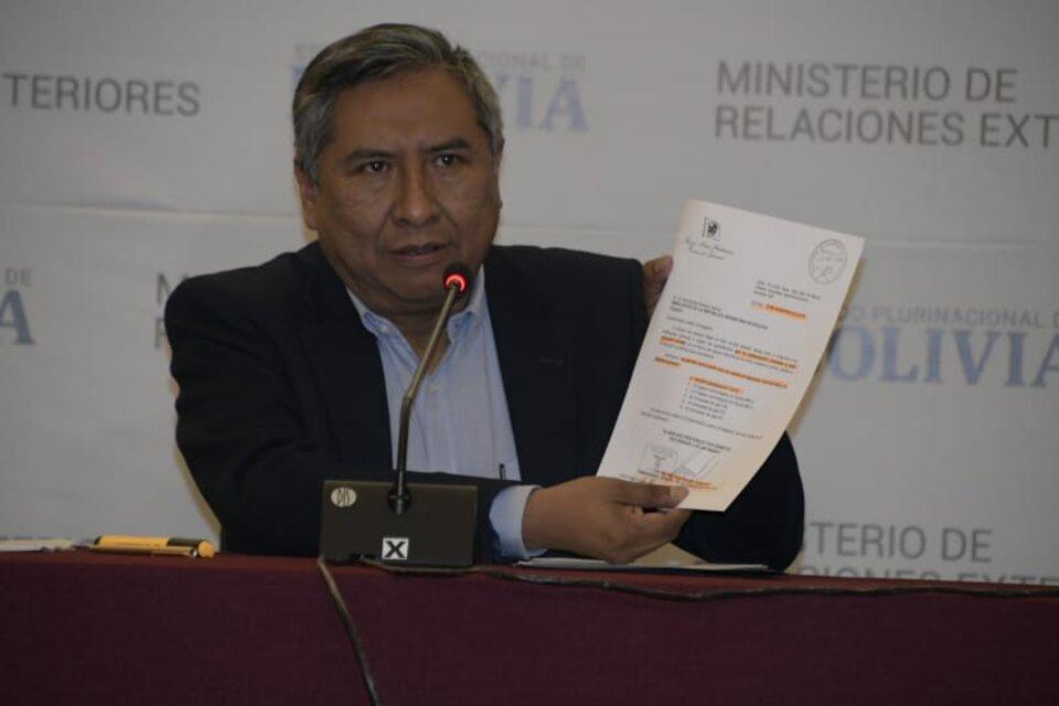 Canciller de Bolivia, Rogelio Mayta.