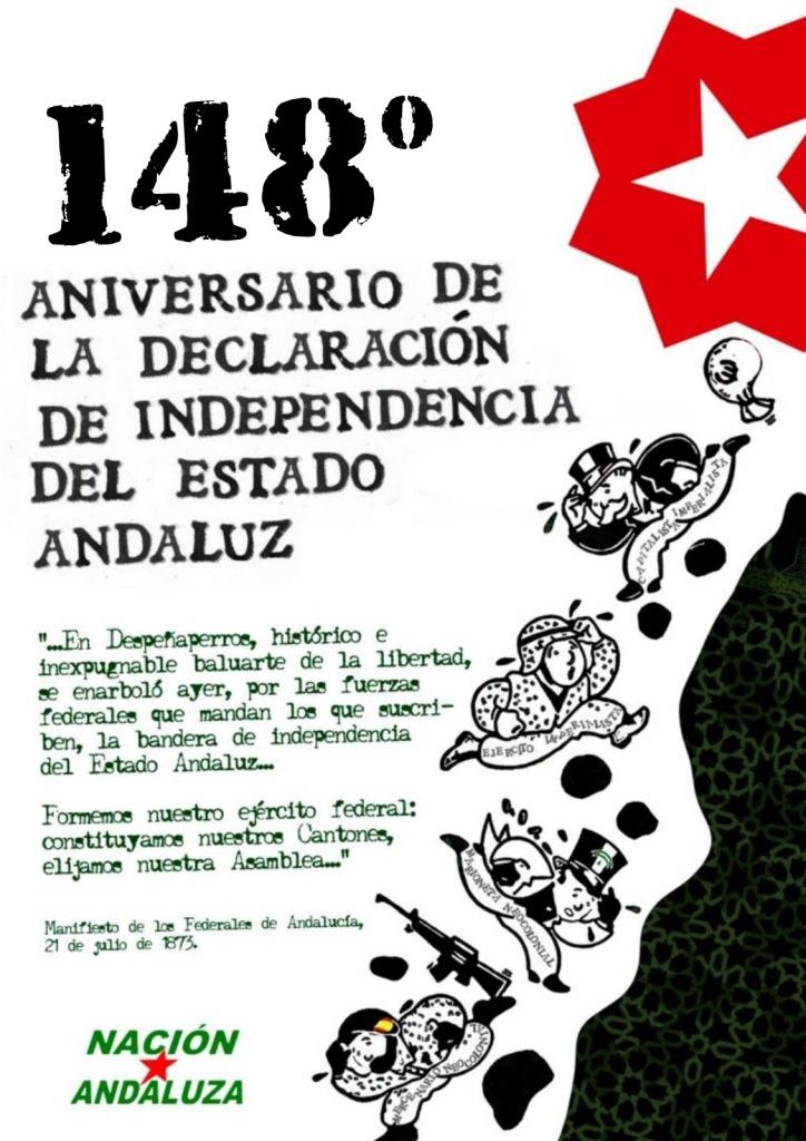 Nación Andaluza en el día de declaración de Independencia del Estado Andaluz