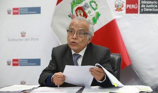 Torres juró como ministro de Justicia el último 29 de julio. Foto: Ministerio de Justicia