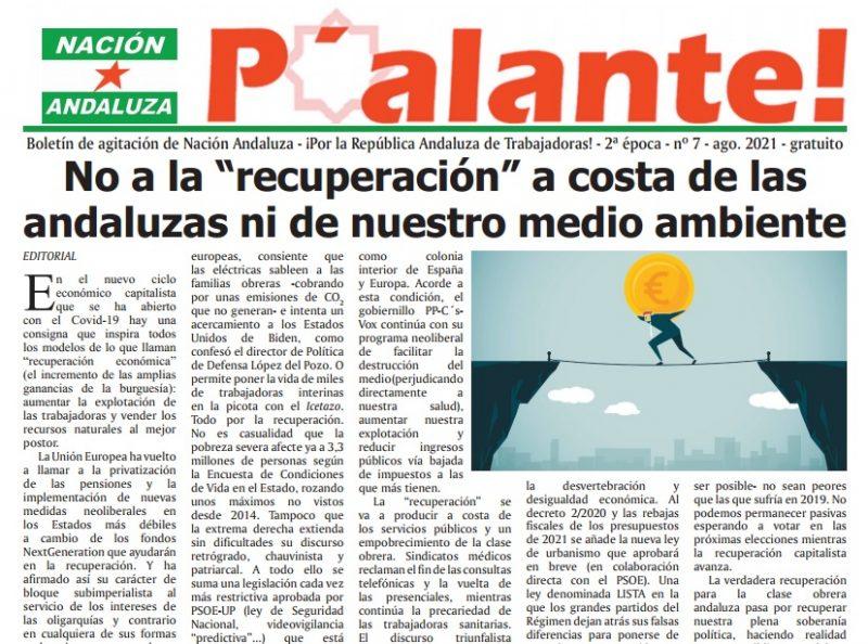Nación Andaluza publica el nº 7 de su boletín de agitación P'alante