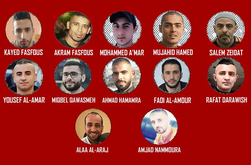 Palestina: 12 presos continúan su huelga de hambre por su liberación